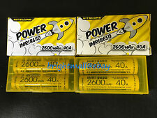 4 PACK NEW NITECORE IMR 18650 2600 mah 40a Rechargeable Battery