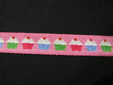 cupcake fold over elastic FOE 15mm per 1 m hair accessory headband