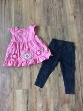 Gymboree Carter's Toddler Girl Pink Floral Tunic & Jeggings Outfit Set Sz 2T 24