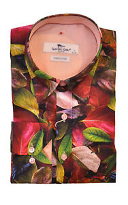 Mens Claudio Lugli Autumn Leaves Print Shirt CP6670