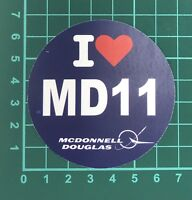 I Love MD11 Sticker (1 PC)