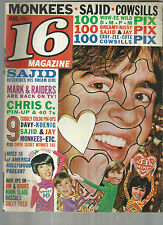 March 1968 16 Magazine Monkees Sajid Walter Koenig Beatles Sonny & Cher