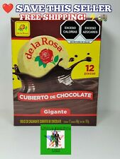 De la Rosa GIANT Mazapan Chocolate Cover 12 PACK 🤩 Delicious Great Gift ⚡🚚