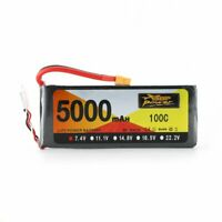 ZOP 5000mAh 7.4V 100C RC Car Lipo Battery with XT Plug for Car Boat Truck PA