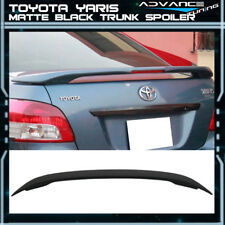 Fits 07-13 Toyota Yaris Matte Black OE Factory Trunk Spoiler LED Brake Light
