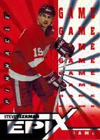 ~Pinnacle Epix 1997-98: Orange Game Card of Steve Yzerman E9