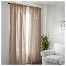 Ikea Linen Curtains Bedroom Window Living Room Sheer Panel Blind Beige 250x145cm