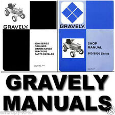 GRAVELY 8000 Tractor SERVICE MANUAL, Parts, OWNERS -179- MANUALS & Engine SET CD