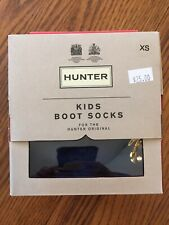 HUNTER Kids Boot Socks NAVY Size XS