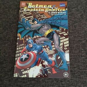 Batman Captain America #1 One Spot 1996 DC/Marvel Comics Signed John Byrne