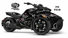 Can Am Spyder F3 F3S Decal Graphic Wrap kit - Pink Perennial