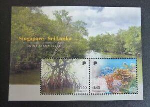 Singapore Sri Lanka Mangroves Joint Stamp Issue 2021 Miniature Sheet MNH