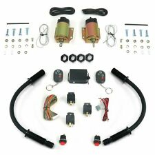 4 Function 35 Lb Remote Shaved Door Kit with Black Loom rat rods streets rods