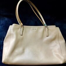 Coach MADISON SAFFIANO LARGE CHRISTIE CARRYALL Handbag Shoulder Bag 29430 Tan