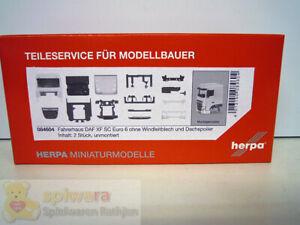 Herpa Fahrerhaus DAF XF SC Euro 6 ohne Windleitbl. und Dachsp. Inhalt: 2 Stück