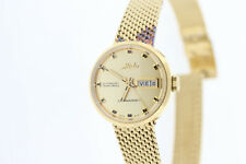 Ladies Mido Commander Automatic Datoday M716937213 Gold Tone St Steel Watch