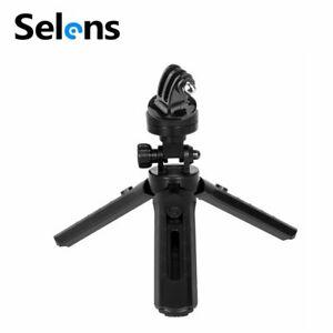 Selens Mini Table Tripod Extendable Camera Gopro Vlog Stand Monopod + Gopro Base