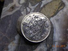 1975 10P Pence Salmon Irish Hand Engraved Scroll Work