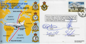 CC3 1995 Falkland Islands air bridge Tristar 216 Sqn flown and signed RAF cover
