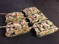 Flames of war german panzer 4 platoon late war 5xtanks 15mm individualy sculpted