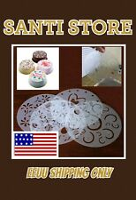 4x Durable Round  Flower Heart Birthday Cake Fondant Craft Decorate Cutter Mold