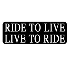 "Sticker pour casque moto ""Ride To Live"" helmet custom trike"