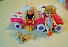 VINTAGE 1997 BARBIE SHELLY POWER WHEELS MOTORIZED JEEP FISHER PRICE