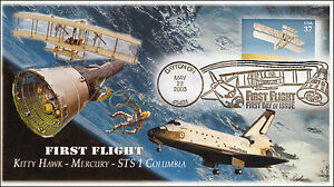 SC 3783, 2003, First Flight, Dayton OH, B/W Pictl, FDC, Add On Cachet, AO-3783