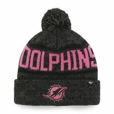 Miami Dolphins 47 Brand Knit Hat  Cap Northmont Pink