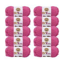 Lion Brand Yarn 205-195 DIYarn, Hot Pink (Pack of 10 skeins)