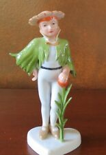 Royal Copenhagen Flower Child Boy on Heart Base #046 Figurine Denmark
