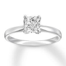 Beautiful Solitaire 4-prong Cushion Diamond ENGAGEMENT Ring 1.25 Carat E-VVS2