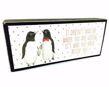 Love Gift - East of India 'Beside You' Wooden Mantel Block 3502EOI