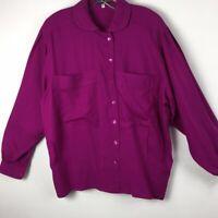 Escada Margaretha Ley wool button down blouse (EU40) Large Women's