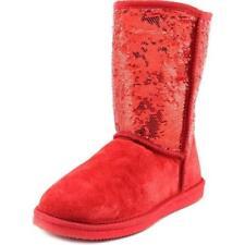 Calzado de mujer de nieve de tacón bajo (menos de 2,5 cm) de color principal rojo