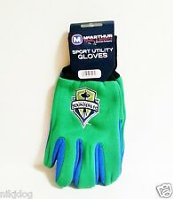 Seattle Sounders FC No Slip Grip Utility Work Gloves Soccer
