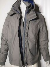 Superdry size xl technical windbreaker men's jacket color gray