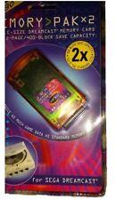 DC Memory Pack x2 Nyko New Sega Dreamcast