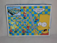 THE SIMPSONS CHESS SET - 3D EDITION IN VGC  (FREE UK P&P)