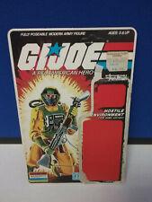 G.I. JOE VINTAGE Airtight File UNCUT CARD BACK
