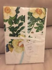 "Williams Sonoma Spring Garden Party tablecloth floral flower 90 "" round  New"