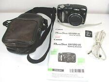 Canon PowerShot SX120 IS 10.0MP Digital Camera - Black Bundle