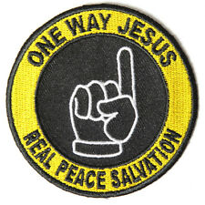 Embroidered One Way Jesus Real Salvation Sew or Iron on Patch Biker Patch