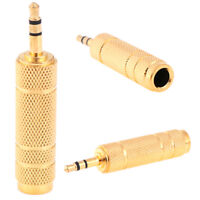1Pc 3.5mm Male to 6.5mm Female Headphone Jack Adapter Plug Stereo Audio T JN