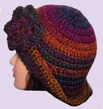 LADIES WINTER CHUNKY  CLOCHE HAT floppy brimmed christmas gift for her uk