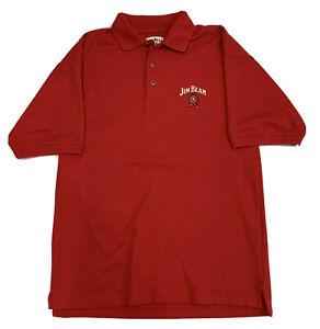 Jim Beam Bourbon Retro Polo Shirt Mens Size Large