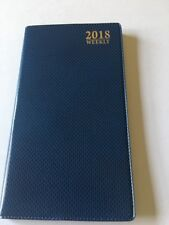 2018 Dated Day Planner Calendar Appointment Book WEEKLY BLUE Pocket Book
