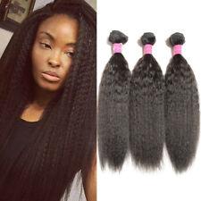 3bundles 150g 100%Brazilian Virgin Hair Kinky Straight Wave Human Hair Extension