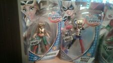 5 Dc Super Hero Girls 6 Inch Figures Hawkgirl,Harley Quinn And More
