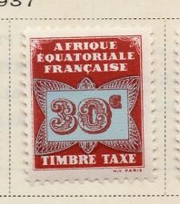 French Equatorial Africa 1937 Postage Due Issue Fine Mint Hinged 30c. 144038
